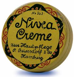 Envase Original de Nivea Creme del año 1924